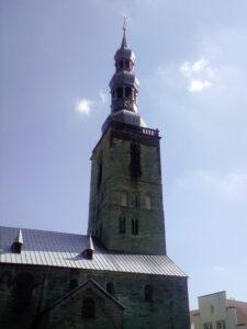 Bauklempnerei an einer Kirche
